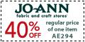 40% Off RPI at Joann.com (Code: DECA840)