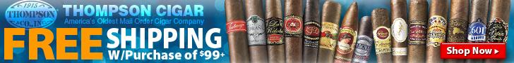 Thompson Cigar - Free Shipping on $99+