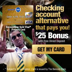 Get a fresh start with an AccountNow Prepaid Visa