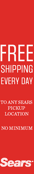 Free Shipping Every Day To Any Sears Pickup Location - No Minimum!