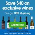 Free $40 Voucher. Valid on 6 or More Bottles Totaling $75 or More.