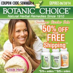 Visit Botanic Choice now to save! summer coupon
