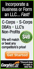 CorpNet� - Form an LLC in Minutes! Get 10% Off!