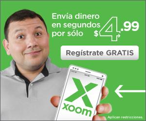 Envía dinero con solo un clic con Xoom.com.