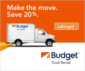 Save 20% off your Budget® Truck one-way rental from now until 5/24/14