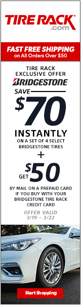 Get Up to a $100 General Tire Visa Prepaid Card.