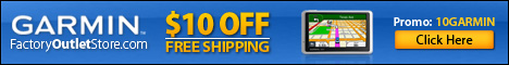 $10 Off + FREE Shipping on Garmin GPS & Accessories