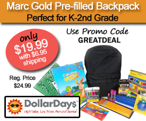 DollarDays offering Marc Gold Pre-filled Backpack for only $19.99