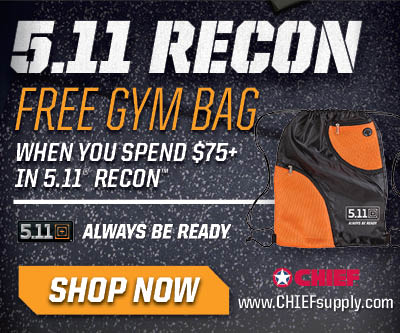 Free 5.11 Tactical hat, T-Shirt or Gym bag w/ purchase