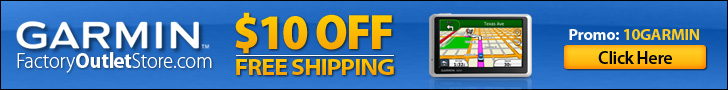 $10 Off + FREE Shipping on Garmin GPS & Accessorie