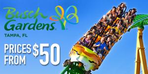 Busch Gardens Tampa - Tickets for $50!