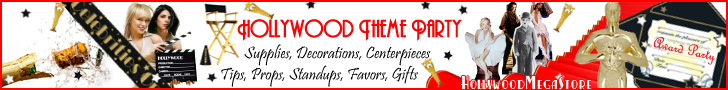 Hollywood Theme Party Decorations, Favors, & Tips