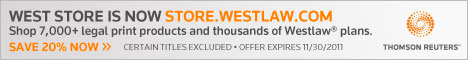 Save 20% on Law Books on the Westlaw Store