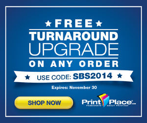 PrintPlace Coupons for free Turnaround Upgrade on any order