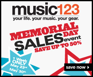 Save up to 86% with Music123 Presidents Day Deals!