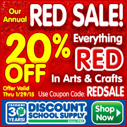 The Red Sale Is On - Save 20% On Everything RED In Arts & Crafts & Get Free Shipping
