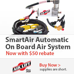 Offer valid on AirLift part number AIR25415. $50 back via mail in rebate.