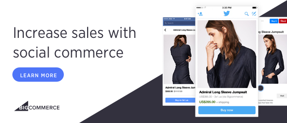 Increase sales with social commerce at BigCommerce. Learn More!