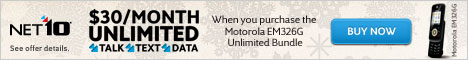 $30/Month Unlimited with the Motorola EM326G