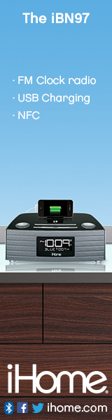 160x600Static iBN97 NFC Bluetooth Stereo FM Clock Radio