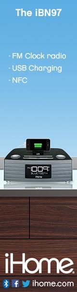160x600Static iBN97 NFC Bluetooth Stereo FM Clock Radio