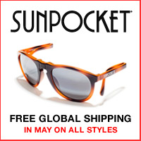 Sunpocket Free shipping on all styles in May