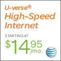 U-verse Internet starting at $14.95/month when you bundle with Home Phone