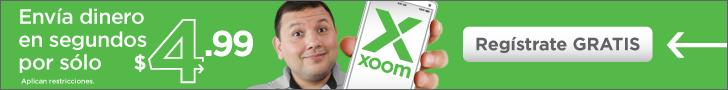 Envia dinero en solo un clic con Xoom.com.