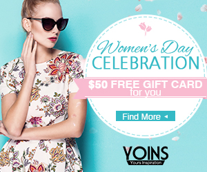 $50 free gift card for you on Women's Day
