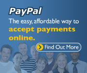 Accept Online                                                   Payments through                                                   PayPal - no Setup or                                                   monthly fees