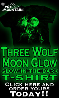 Three Wolf Moon Glow-In-The-Dark T-shirt
