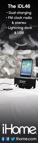 160x600Static iDL46 Dual Charging Stereo FM Clock Radio