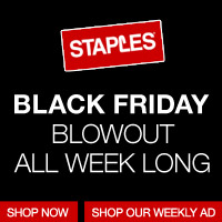 Shop Early and Enjoy Black Friday Deals All Week Long at Staples.com!
