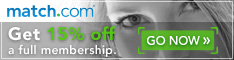 15% Off Match.com - Start Search For Love