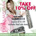 10% OFF Fashion Designer Apparel at PinkMascara