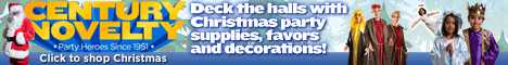 Christmas party supplies, favors and decorations
