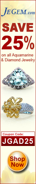 Save 25% on all Aquamarine & Diamond Jewelry