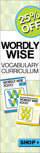 25% Off Wordly Wise Curriculum