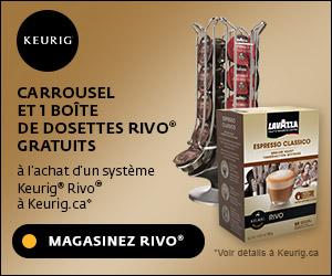 Carrousel et 1 boîte de dosettes Rivo GRATUITS à l'achat d'un système Keurig Rivo