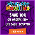 10% OFF Halloween Party Supplies, Decorations, invites, banners, and Halloween Costume Accessories w