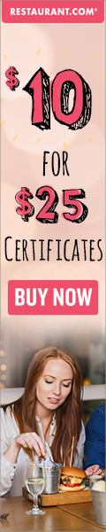 $25.00 Gift Certificates for $10.00