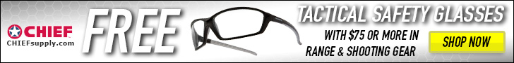 Free Safety Glasses w/ $75 in Range & Shooting gear @ CHIEFSupply.com