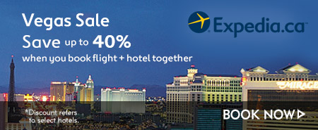 Expedia.ca: Vegas Sale - Save Up to 40% When You Book Flight + Hotel Together with Expedia!