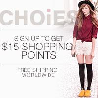 Sign up to get $15 at Choies.com