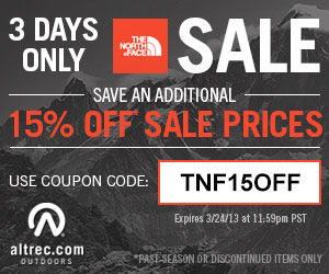 The North Face Winter Sale - Up to 30% off