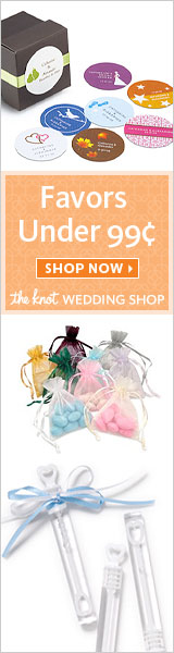 Favors Under 99 Cents at The Knot Wedding Shop