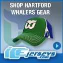 Get Your Official Hartford Whalers Gear at IceJerseys.com! SAVE $10 off all purchases over $100 with Coupon Code 10OFF100