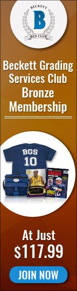 Beckett Grading Services Club Bronze Membership for $99