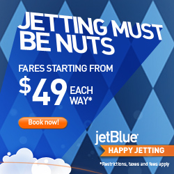 Jet Blue $29 Each Way Sale – Today Only!   ***HOT