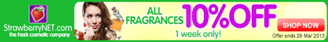 Save an extra 10% off 600+ fragrance brands… 1 week only!
